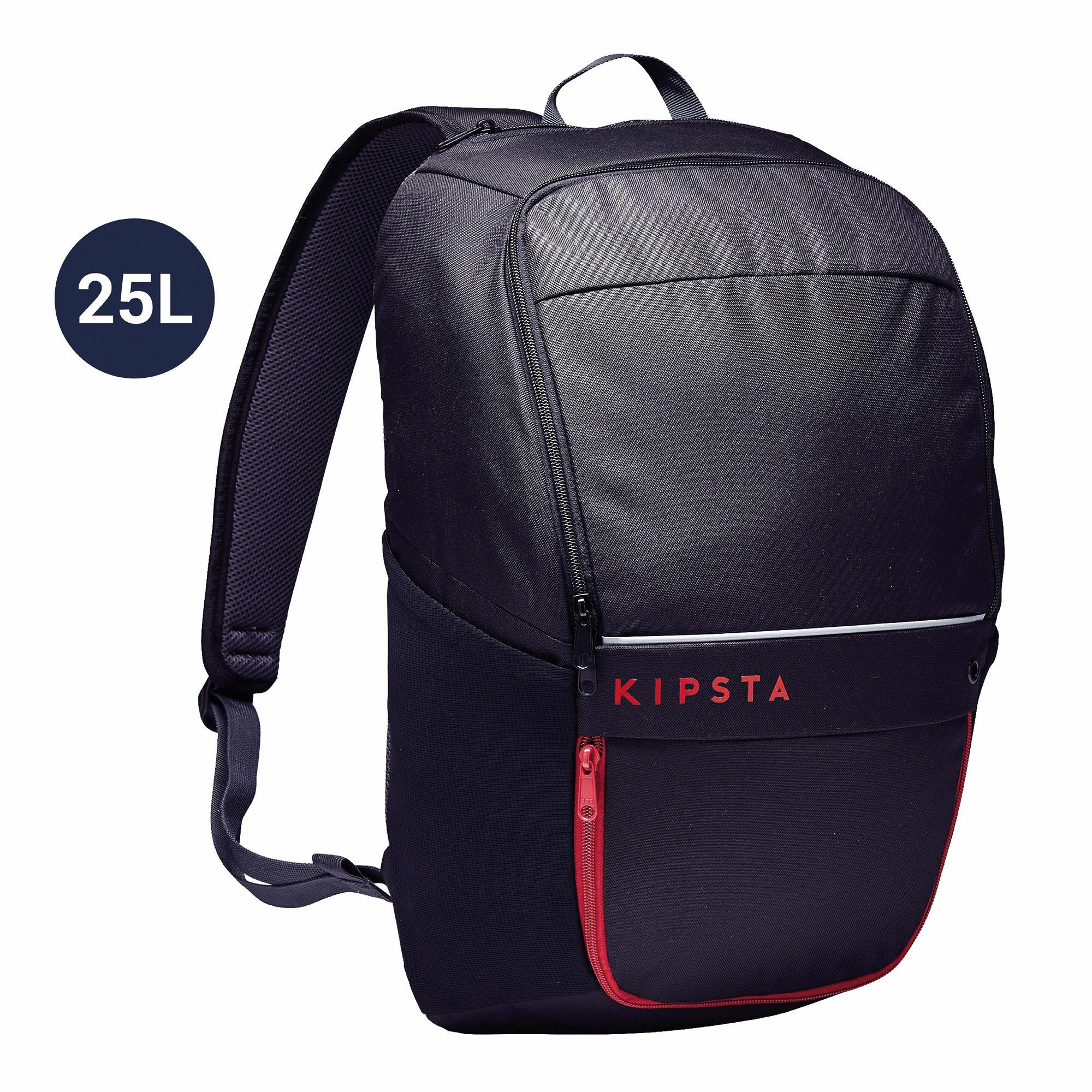 Sporttasche Rucksack Classic 25 Liter schwarz   Taschen > Rucksäcke > Sonstige Rucksäcke   Schwarz - Grau   Kipsta