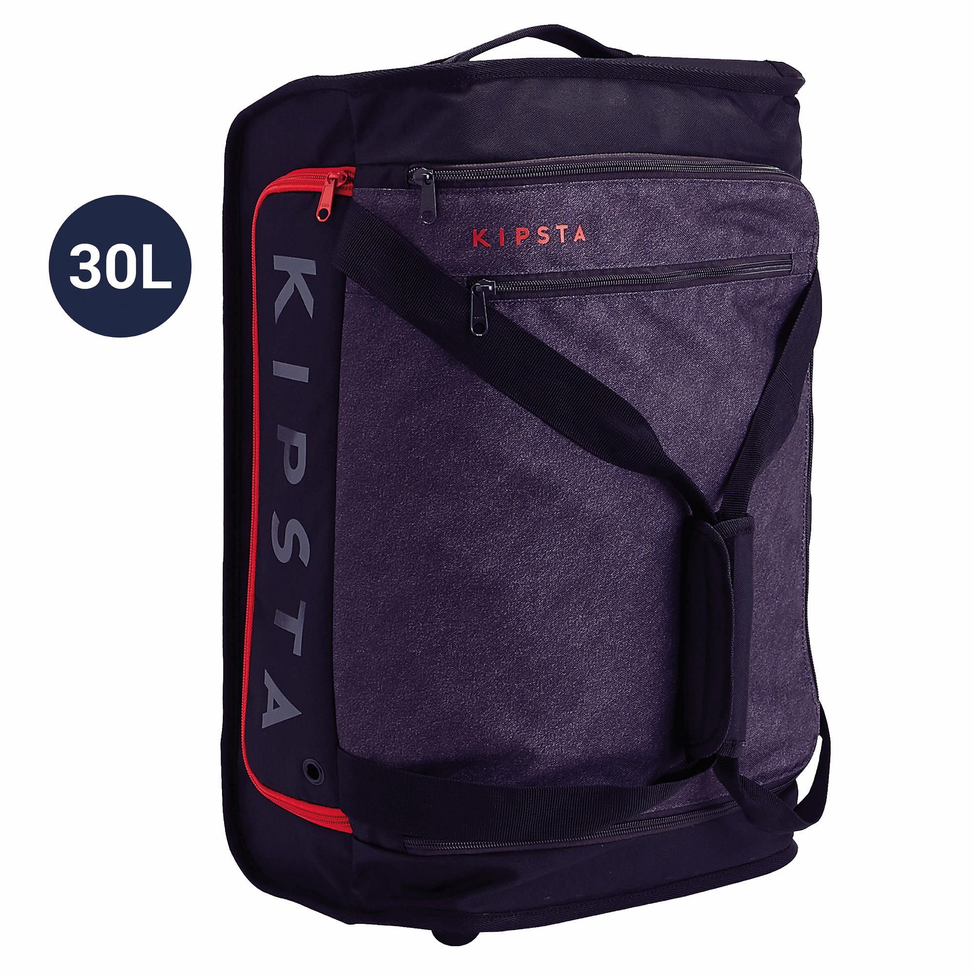 Classic 30 L Rolling Team Sports Bag - Black/Red