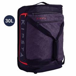 手拉滾輪式運動包Classic 30L-黑色/紅色