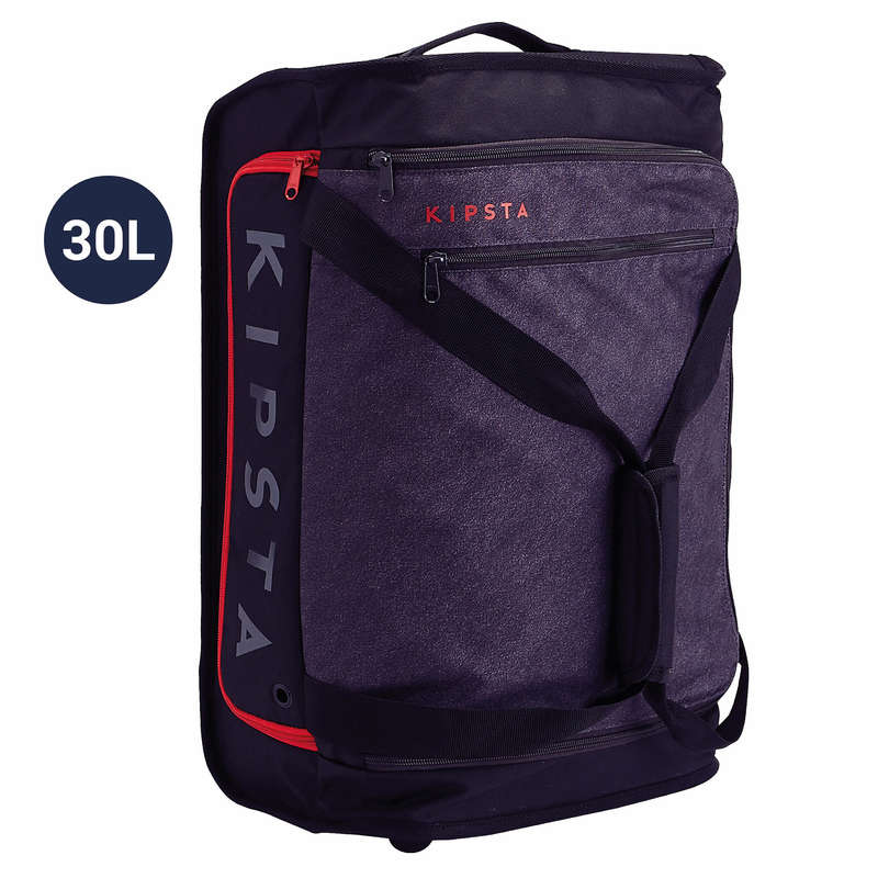 BAG TEAM SPORT Rugby - Essential 30L Bag - Black/Red KIPSTA - Rugby