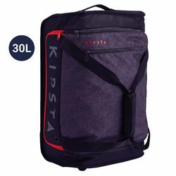 Classic 30L Rolling Team Sports Bag - Black/Red
