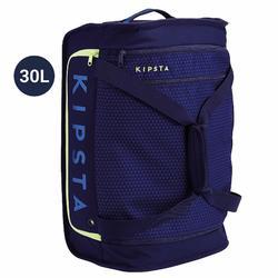 Bolsa Maleta Ruedas Kipsta 30L Azul Marino Amarillo