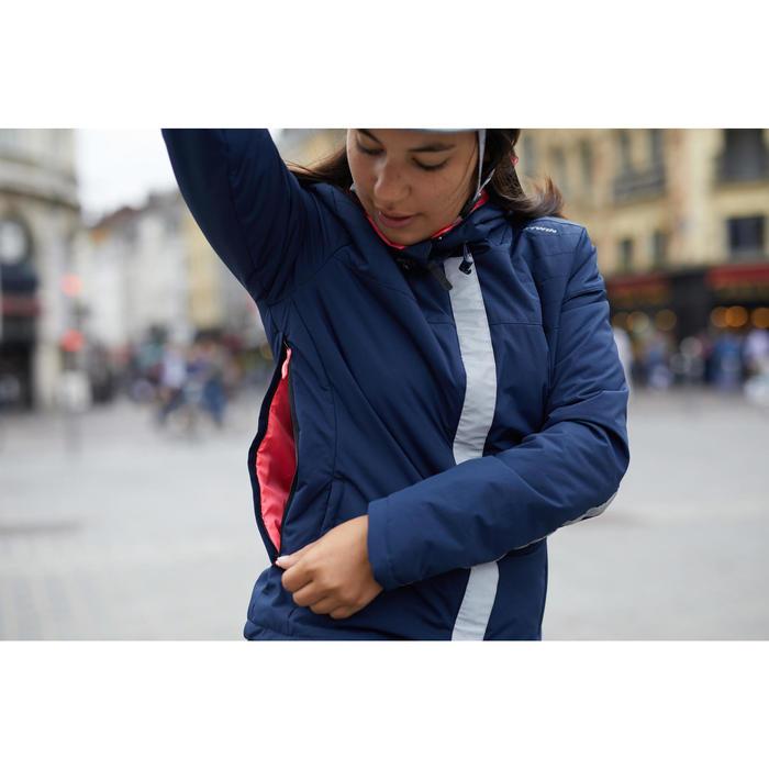 Fahrrad-Regenjacke 900 Damen marineblau