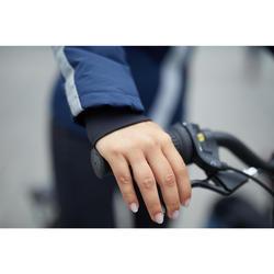 Fahrrad-Regenjacke City 900 Damen marineblau