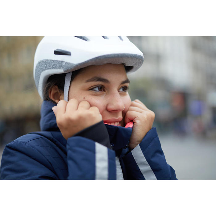 Veste Pluie chaude Vélo 900 Femme Bleu Marine