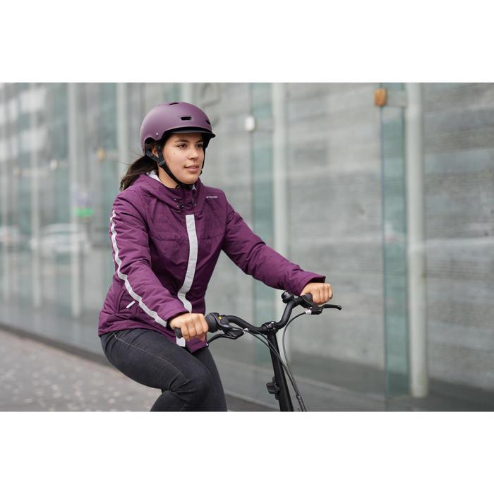Fahrradhelm 500 lila