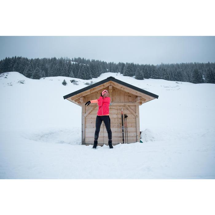 Veste chaude de ski de fond femme XC S JKT 550 rose