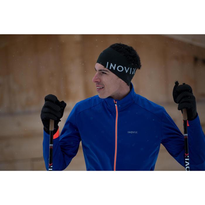 Oorwarmer voor langlaufen volwassenen 500 zwart