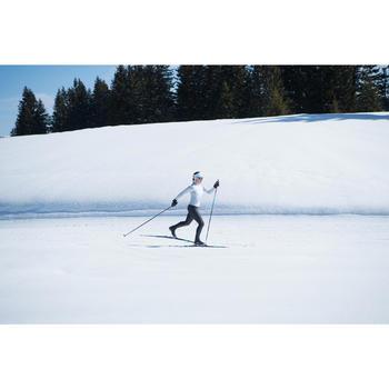 Mallas largas de esquí de fondo mujer cortaviento XC S TIGHT 500 negro