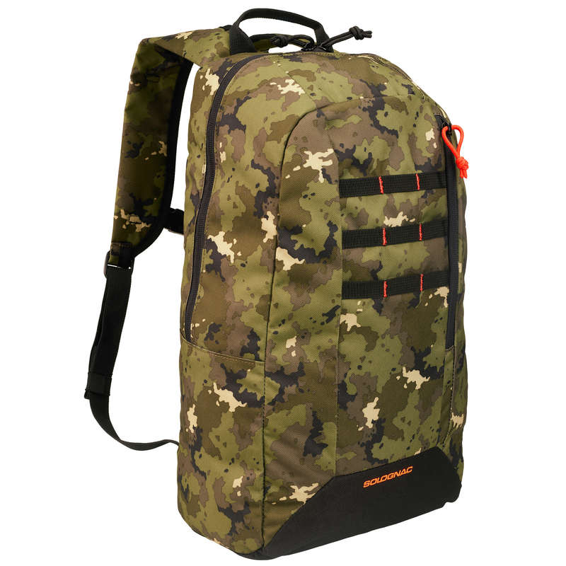 BAGS Bags - BACKPACK 20L GREEN ISLAND CAMO SOLOGNAC - Bags