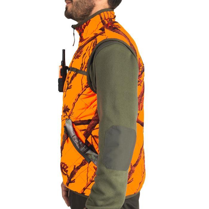 Chaleco Caza Solognac BGP 100 Reversible Naranja Fluo Camuflaje Marrón