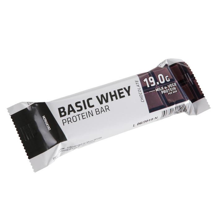 Barrita Proteína Triatlón Domyos Basic Whey Protein Bar Chocolate 19 G