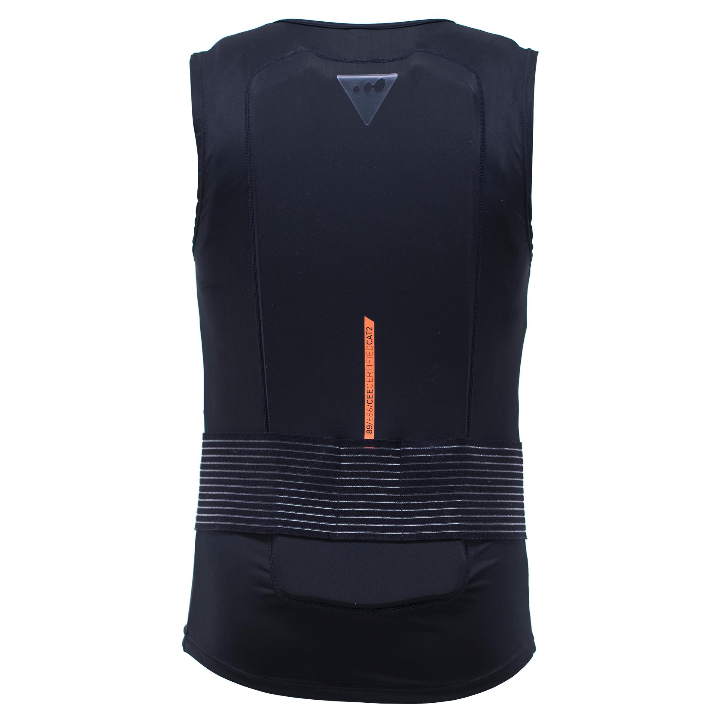 Gilet protection dorsale de ski et snowboard adulte dbck 100 noir wedze