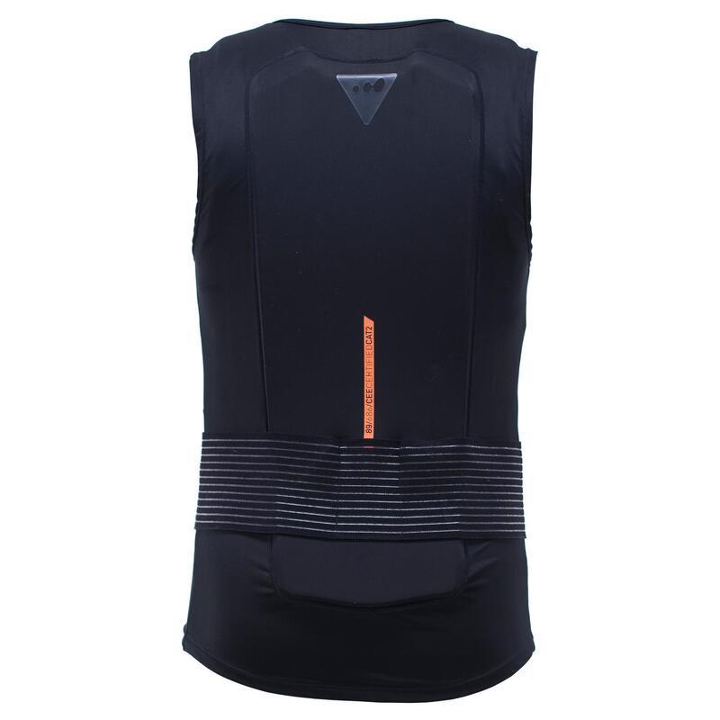 Rugbeschermer voor skiën en snowboarden volwassenen DBCK 100 zwart