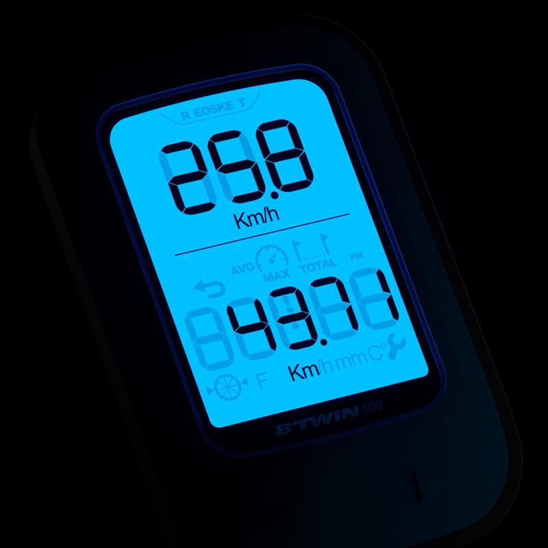 500 Wireless Cyclometer - Yellow