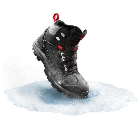 Чоловічі черевики SH520 Х-WARM для зимового туризму, середньої висоти - Чорні