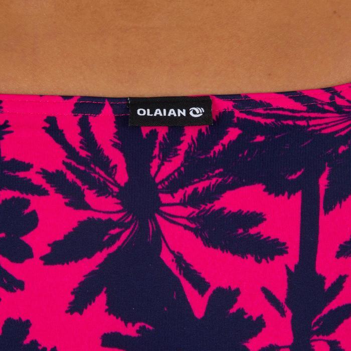 Dames bikinibroekje, gefronst opzij, voor surfen, Niki Miami roze