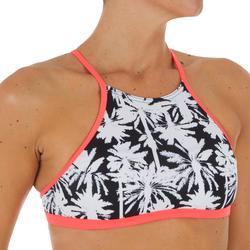 Haut de maillot de bain femme brassière de surf avec coques ANDREA MIAMI noir