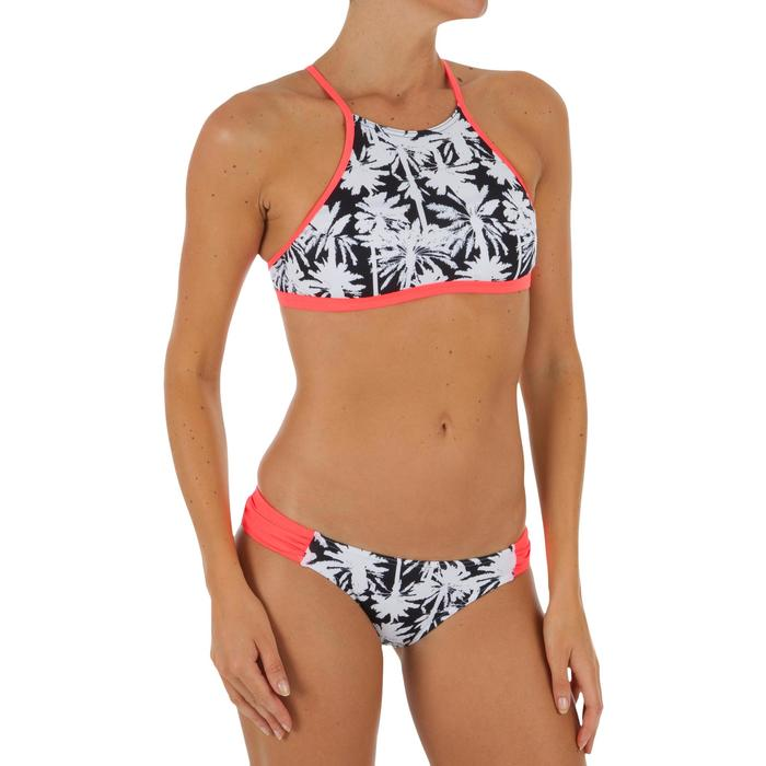 Braguita de bikini de surf para mujer con plisado lateral NIKI MIAMI negra
