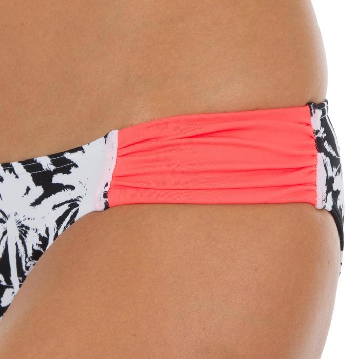 Bas de maillot de bain de surf femme plissée côté NIKI MIAMI NOIR