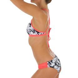 Dames bikinibroekje, gefronst opzij, voor surfen, Niki Miami zwart