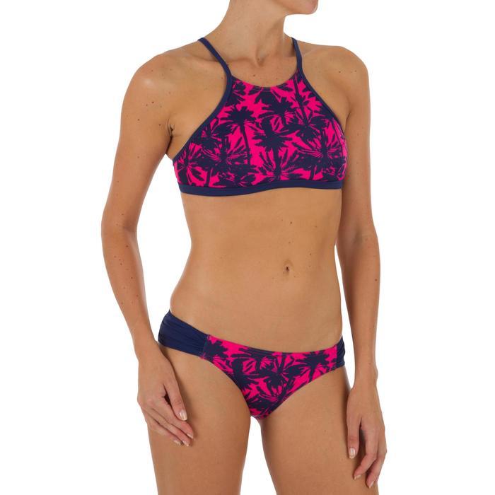 Bas de maillot de bain de surf femme plissée côté NIKI MIAMI ROSE