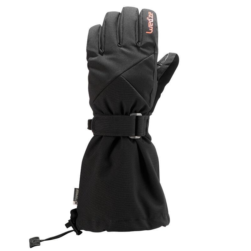 Guantes de Nieve y Esquí Niños Wedze Ski-P 550 Negro