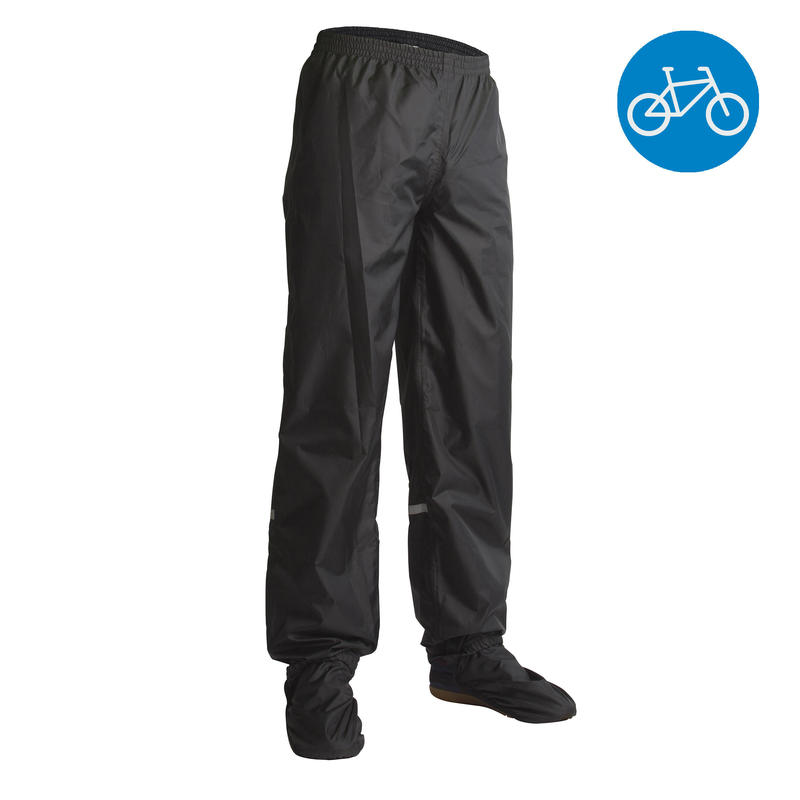 300 City Cycling Rain Top-Layer Pants - Black