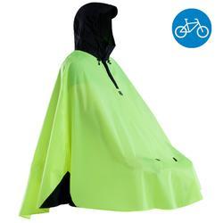 500 Cycling City Rain Poncho - Yellow