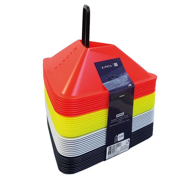 Set van 40 trainingshoedjes Essential in 4 kleuren (geel, oranje, grijs, blauw)