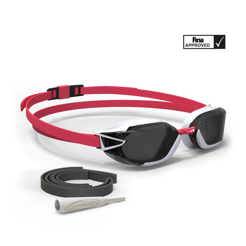 Zwembril met getinte glazen 900 B-FAST zwart rood