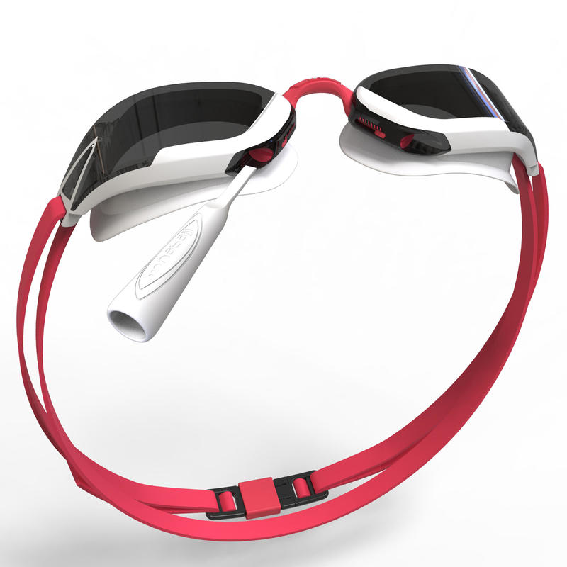 B-FAST Swimming Goggles 900 - Black Red Smoke Lenses
