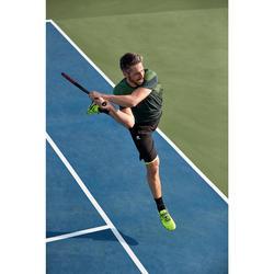 Tennisshorts warm 500 Herren schwarz/gelb
