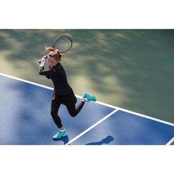 Tennis T-shirt voor dames Essentiel zwart/grijs