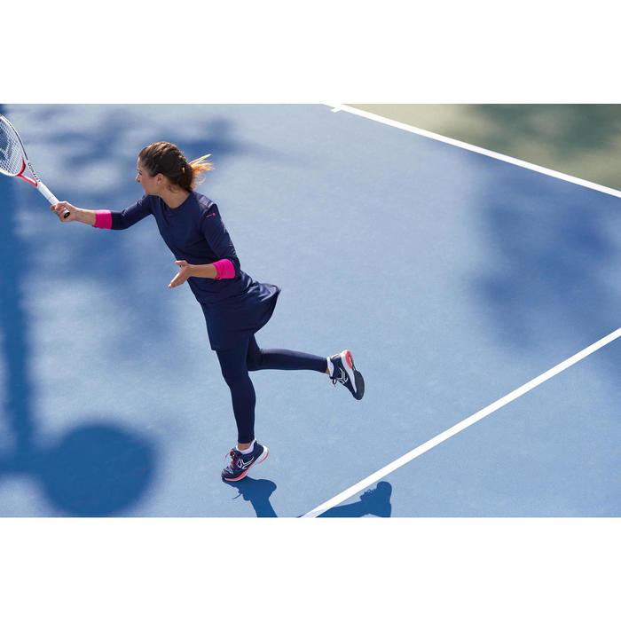 Tennisrock Thermo 500 Damen marineblau