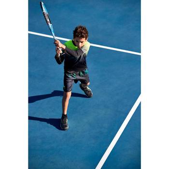 Thermische tennisshort voor jongens TH 500 zwart/fluolimoen