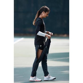Tennisbroek voor dames Ziplayer lichtgrijs