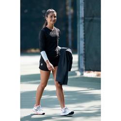 Trainingshose Ziplayer Tennis lang Damen hellgrau