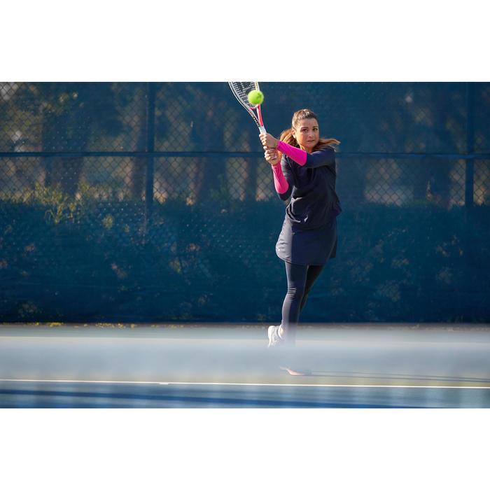 Tennis T-shirt dames Essentiel blauw/roze