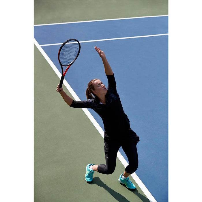 3/4-Ärmel-Tennisshirt 900 Thermic Damen grau/schwarz