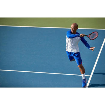 Tennisshorts 500 warm Herren marineblau/orange
