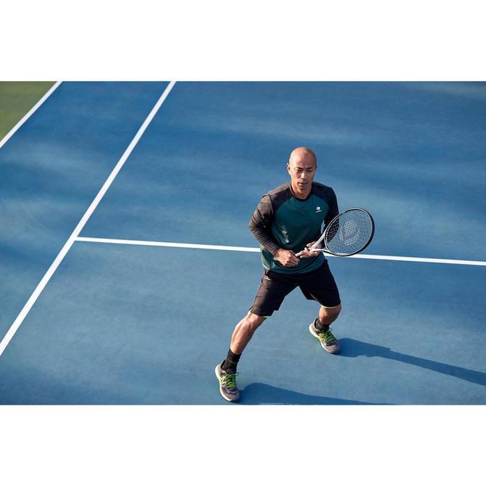 Tennisshirt voor heren TTS500 kaki/zwart
