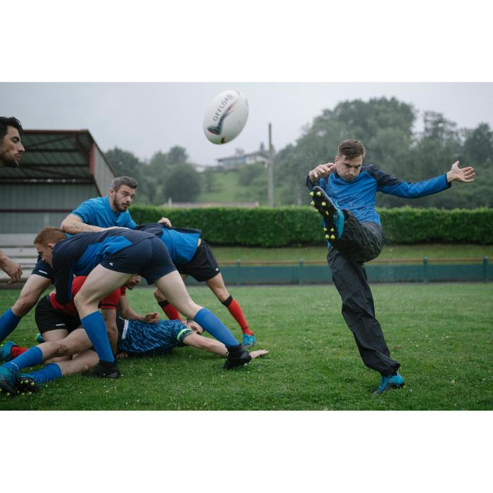 Rugby-Smockpant R500 wasserdicht Erwachsene schwarz