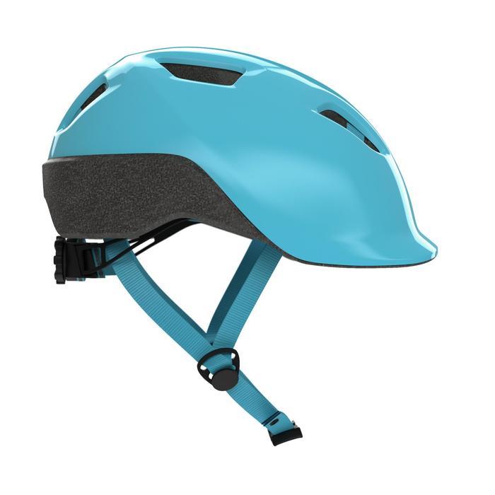兒童自行車安全帽500 - 藍綠色