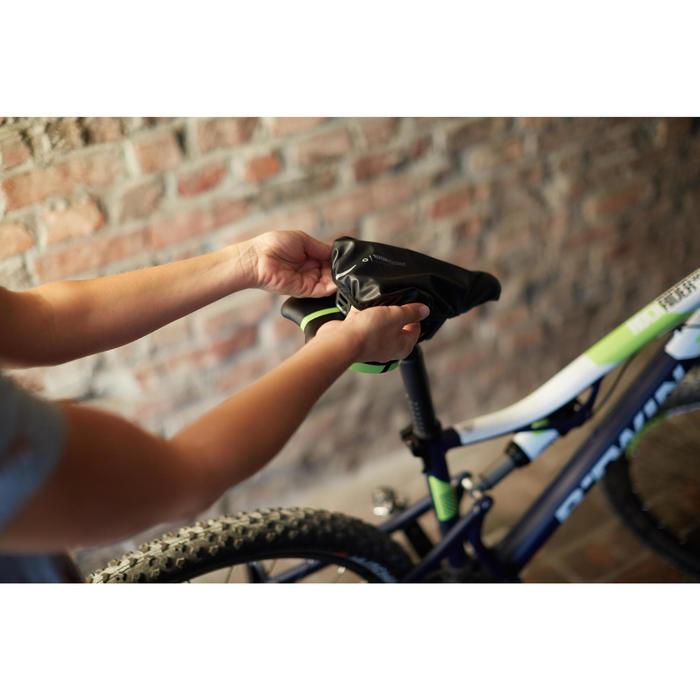 Fahrrad-Sattelbezug Wasserfest schwarz