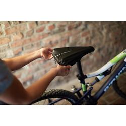 Fahrrad-Sattelbezug wasserfest XL schwarz