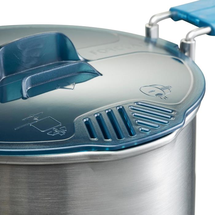 Trekking Cooking Set in Stainless Steel for 2 People