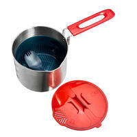 Backpacking Cookset 0.9 L Trek 500 Stainless-Steel 1 Person
