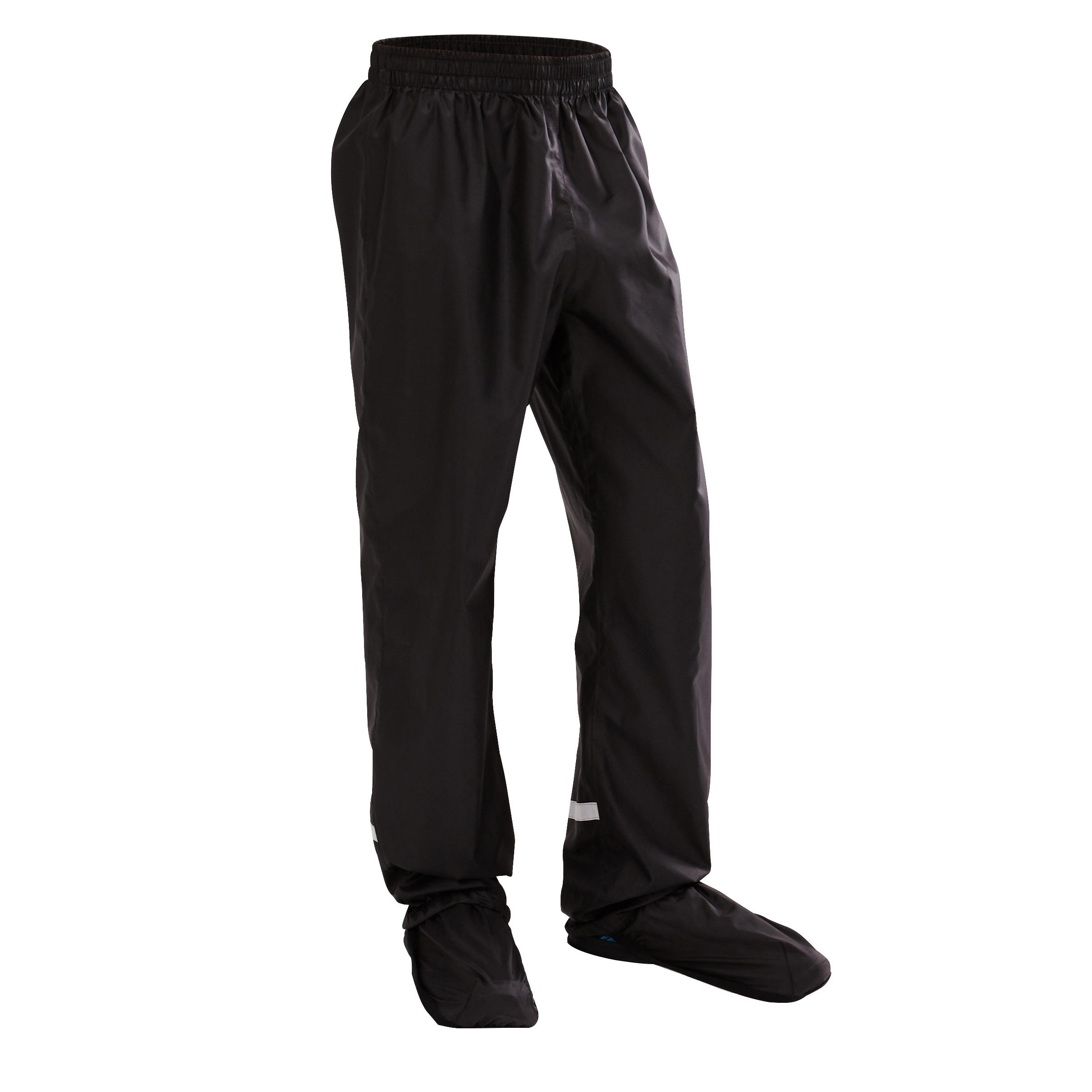 300 City Kids' Cycling Overtrousers - Black