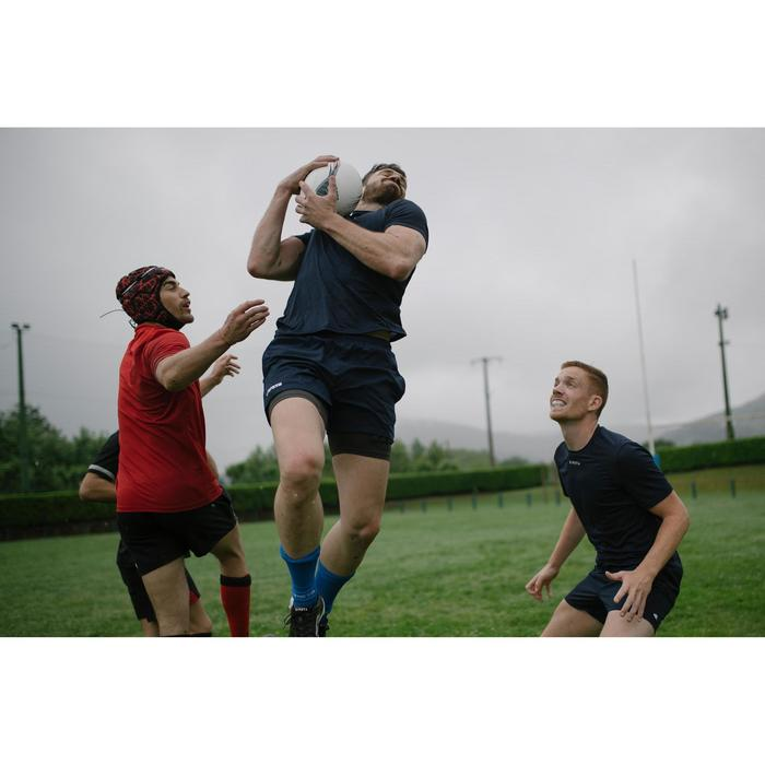 Camiseta Rugby Offload Perf Tee R500 adulto azul